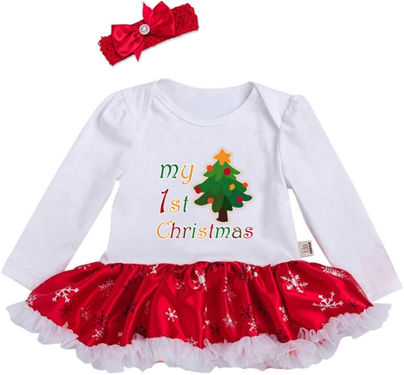 URBEAR Neonata Bambina Mio Primo Costume della Santa del Partito del Abitini Vestito 2 pz