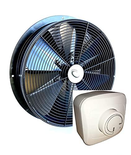 600mm Ventilador industrial con 500W REGULADOR de Velocidad Ventilación Metal Extractor Ventiladores ventiladore Axial axiales extractores centrifugo aspiracion mura pared