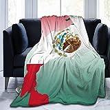 Mapa de la Bandera de México, Mantas Ligeras, Manta de Cama, Manta de sofá, Funda de sofá para Exterior/Interior L
