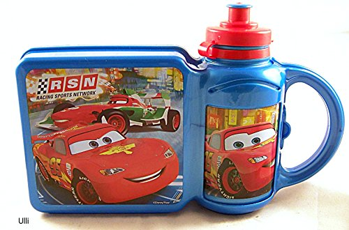 Disney 59372 – Cars Combi Jeu de Lunch Box Plus Gourde Multicolore