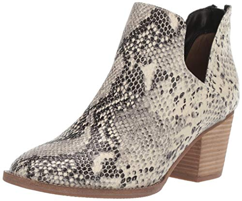 Blondo Women's NEDA Waterproof Ankle Boot, Natural Snake, 8 M US