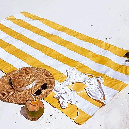 Flamingueo Toalla Playa Grande - Repelente Arena, Secado Rapido, Absorbente, Microfibra y...