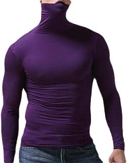 OTW Men's Top Casual Thermal Long-Sleeve Turtleneck Slim Fit Solid Color Top Shirt