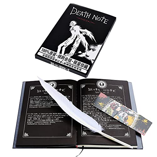 Boxcute Death Note Notizbuch mit Federkiel,Anime Thema Death Note notebook,Anime merch