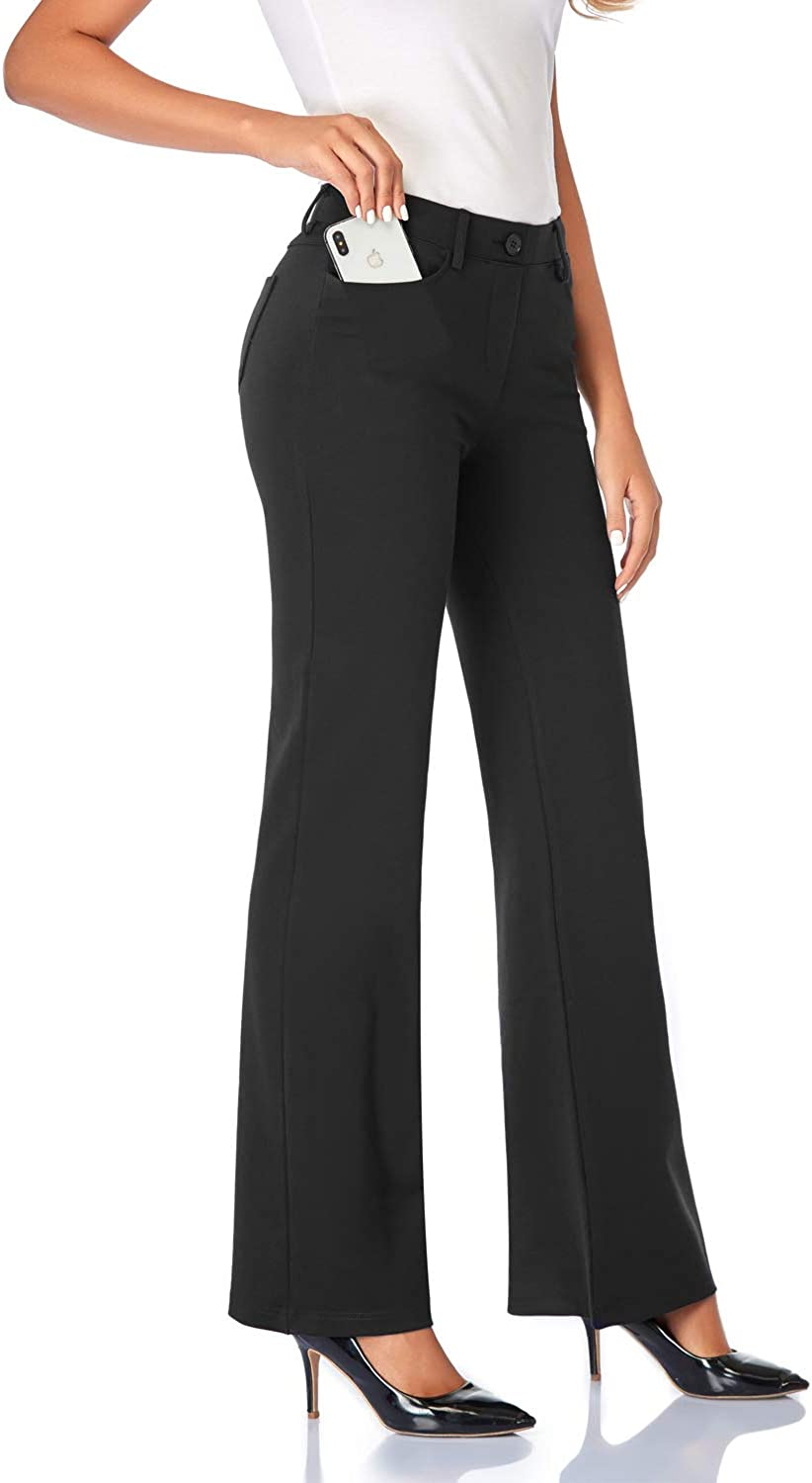 Tapata Women's 28''/30''/32''/34'' Stretchy Bootcut Dress Pants with Pockets Tall, Petite, Regular for Office Work Business