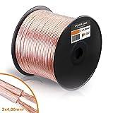 Câble d'enceinte 2x 4mm 322brins cuivre Clad en aluminium (CCA) Câble audio de qualité premium 100 Meter