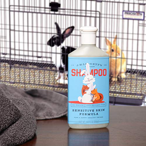 J·R·LIGGETT'S Small Animal Liquid Shampoo Great for Sensitive Skin, Relieves Dry, Itchy Skin, Hypoallergenic Biodegradable Formula - 100% Detergent-Free, 100% Eco-Friendly, Non-GMO, 8.45 oz
