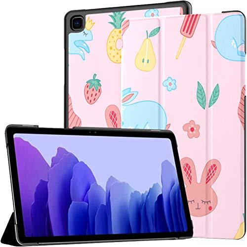 Funda para Tableta Samsung A7 Bonita y Hermosa Funda Rosa Infantil para Samsung Galaxy Tab A7 10,4 Pulgadas Funda Protectora de liberación 2020 Funda Samsung Galaxy A7 Funda para Tableta Funda de CU