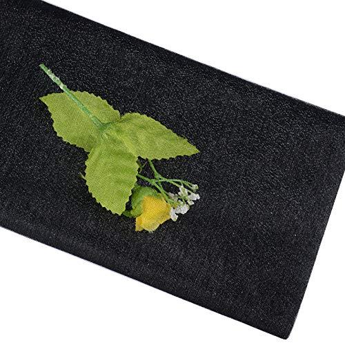 BETESSIN 10m*48cm Tul Negro Tulle Tela de Tul Cinta Brillo Manualidades DIY para Decoración de Boda Banquete Fiesta Navidad Envolver Regalos Lazos Sillas Tutú Falda