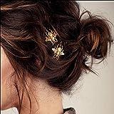 Haar Klammern mit Alloy Bee Hochzeit Kopfbedeckungen Gold Biene Haarnadel-Seitenclip Haarschmuck