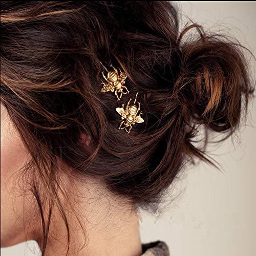 Pinzas de cabello con Alloy Bee tocados de boda Abeja dorada Clip lateral de horquilla Accesorios para el cabello