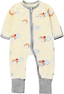 BABYPOEM Baby Pajamas Gender Neutral Baby Clothes Footed Zipper Sleepers Rompers