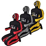 DEAGLE MMA Master Smith BJJ JIU Jitsu MMA Grappling Submission Sitting Dummy Also for Judo Karate Krav MAGA Police & SELF Defense Training.- UNFILLED (Black/RED, 4FT)