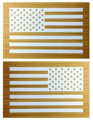 American Flag Decal Sticker Die-cut Vinyl Tactical Military USA Merica United States Marines Army Navy Airforce Pair (6.5
