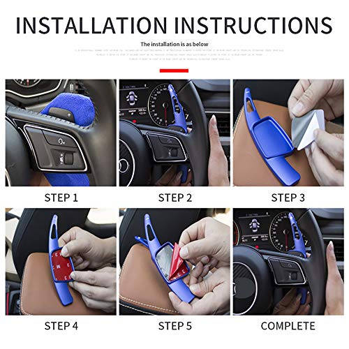 ontto for Mercedes-Benz AMG A45 CLA45 GLC63 Shift Paddle Extended Car Inerior Sterring Wheel Shifters DSG Extensions Cover Trim red