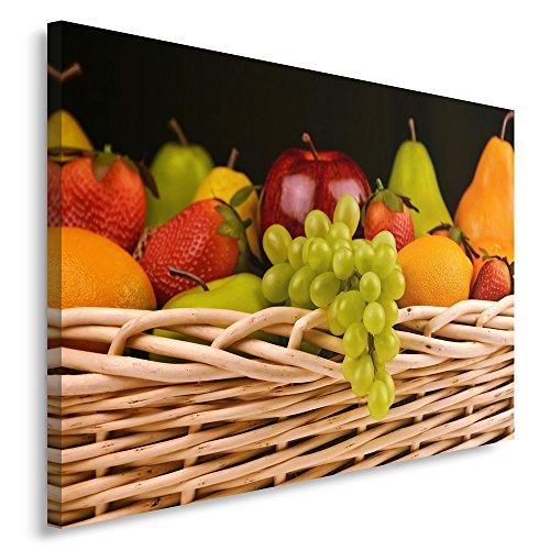 Cuadro impreso en lienzo de frutas en una canasta de Feeby