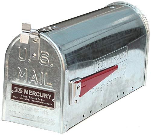 マーキュリー ポスト US EMBOSSED メールボックス 16.7×52.1×24.5cm ガルバ ME048554
