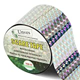 Unves Bird Tape Ribbon, 150ft x 2In Double Sided Reflective Bird Tape