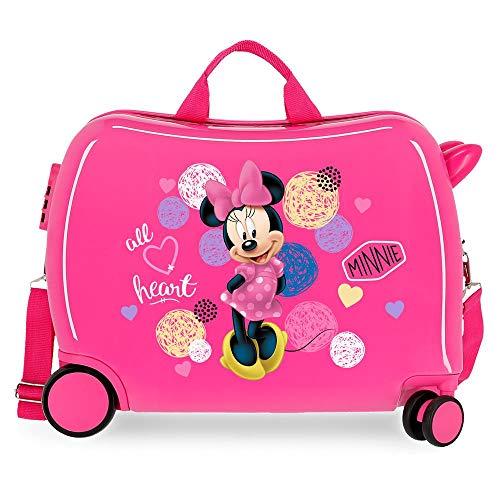Disney Love Minnie Maleta Infantil Rosa 50x38x20 cms Rígida ABS Cierre combinación 34L 2,3Kgs 4 Ruedas Equipaje de Mano