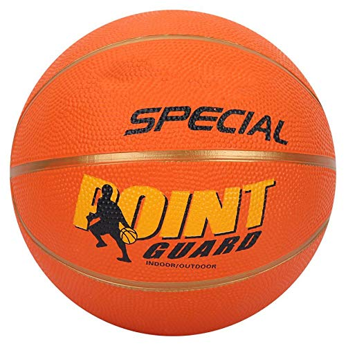 siqiwl Baloncesto Tamaño 5 Baloncesto Niños de Goma Niño Estudiante Deporte Entrenamiento Baloncesto Naranja Borde Dorado Inflable