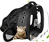 U/D Cat Bag Carrier Backpack, Animal Carrying Backpack for Cat and Puppy, Pet Bag Backpack with Space Capsule Bubble Design