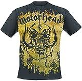 Motörhead Acid Splatter Hombre Camiseta Negro L, 100% algodón, Regular