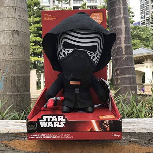 LEIYU Voz eléctrica en caja muñeca de peluche Star Wars Samurai Negro Soldado Blanco VoicedBlackWarrior