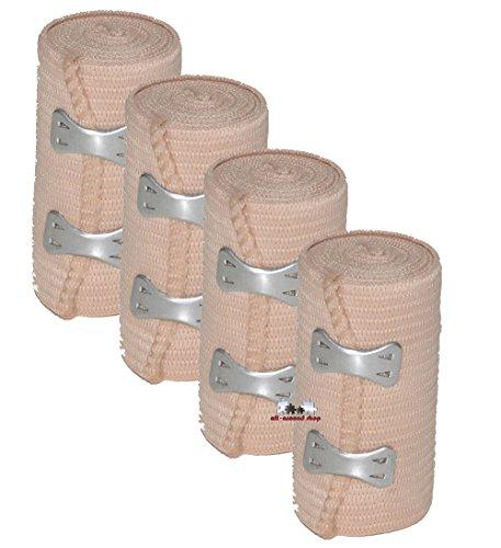 4 Stück all-around24® Elastikbandage Bandage Sportbandage Stützbandage Sportbinde (4)