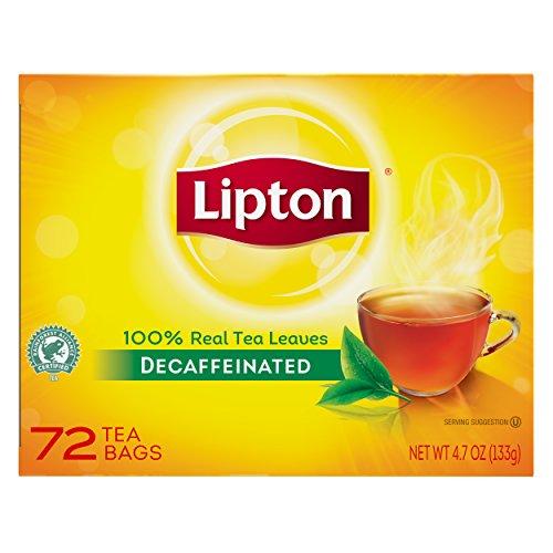 Lipton Hot Tea Black Decaffeinated 72 count