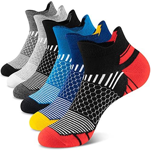 Onmaita Herren Laufsocken, 6 Paar Trainer Knöchelsocken, Atmungsaktive Low-Cut Socken für Sport, Wandern, Gehen Radfahren Multipack 43-46