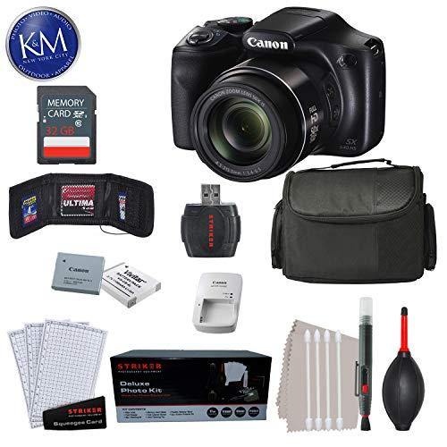 Canon PowerShot SX540 HS Digital Camera + 32GB SD Card & K&M Premium Bundle