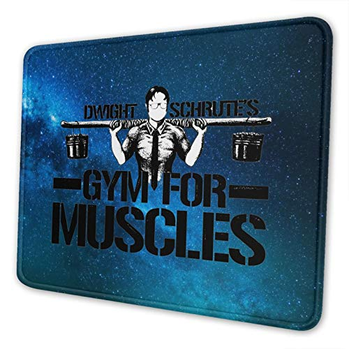 Dwight Schrute's Gym for Muscles Gaming Mouse Pad Square Waterproof Mouse Mat with Non-Slip Rubber Base for Office Home Laptop Travel