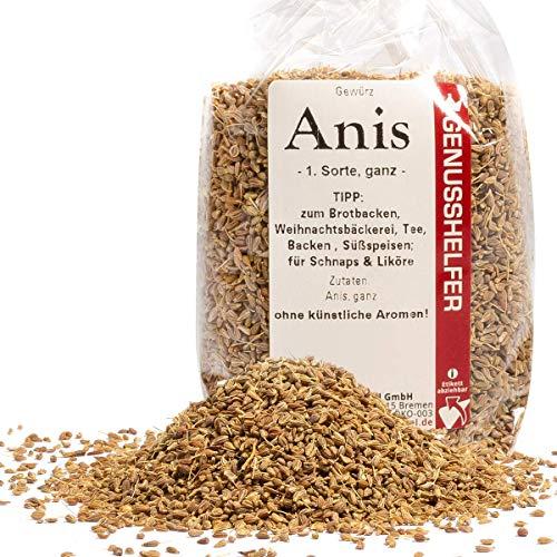 Bremer Gewürzhandel - Ganzer Anis 100 Gramm, Weihnachtsgewürz, arabische Küche, Likörgewürz, Anistee - Ohne künstliche Zusatzstoffe