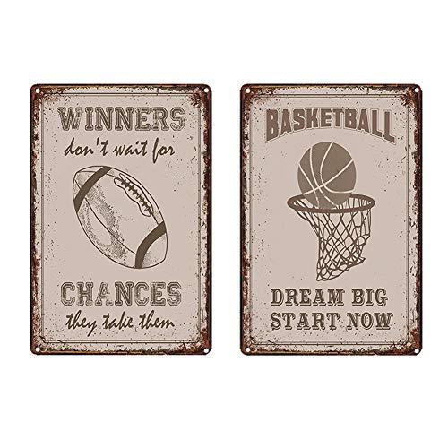 Sport Basketball Wand Schild Lifestyle Blechschild Retro Werbung Blechschilder Home Bar Pub Dekorative Metallschilder Wandaufkleber Poster 20 * 30CM,3