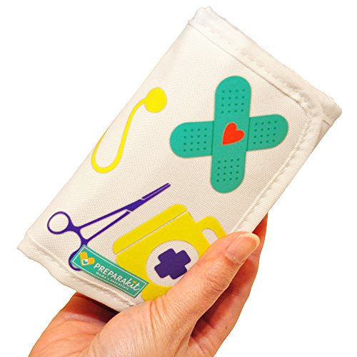 Small Compact Mini First Aid Kit for Diaper Bag, Travel, Purse, Home and Car