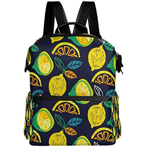Oarencol Zaino Estivo Citrus Limone Acquerello Frutta Scuola Libro Borsa Viaggio Escursionismo Campeggio Laptop Daypack