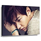 Lee Minho The Heirs Poster for Living Room Wall Decorative Paintings for Bedroom Wall Hanging Kitchen Modern Decorations Artwork Pictures for Bathrooms Hallway Pics Rectangle Canvas Photo Prints (60x90cm(24x36inch),Framed)