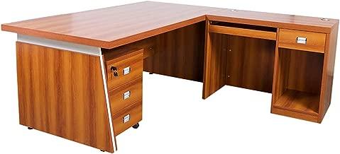 Mahmayi Dupla Modern Executive Desk, Red, 180 x 180 x 76.1 cm, ME3218-ROSECH