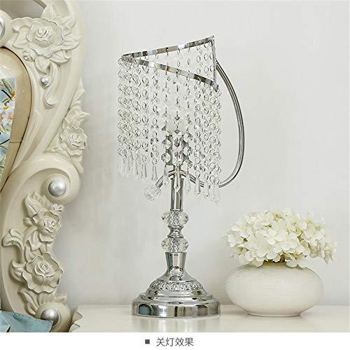 Europäische Kristall Tischlampe Schlafzimmer Nachttischlampe romantische Lampen @ B_pushbutton Schalter