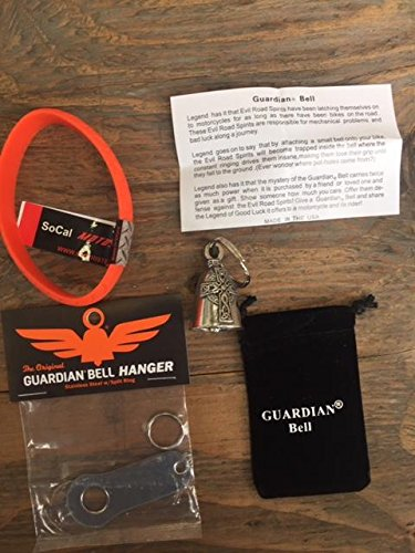 Guardian Bell CELTIC CROSS COMPLETE MOTORCYCLE KIT W/HANGER & WRISTBAND