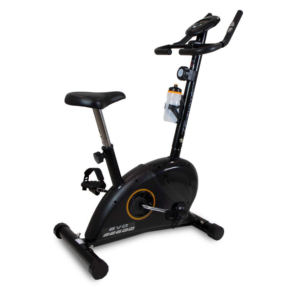 BH Fitness - EVO - B2600A VELBOS- Bicicleta estática con pulsómetro incorporado y pantalla LCD - Edición exclusiva: Amazon.es: Deportes y aire libre