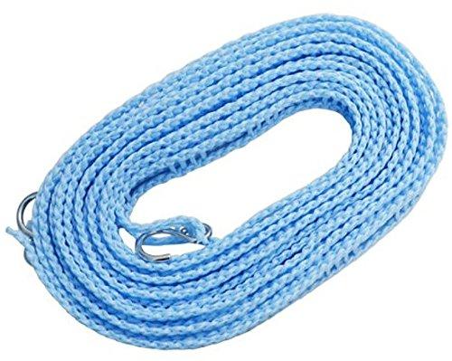 オーエ 洗濯 物干し ロープ ブルー 約5m ハンガーを掛けられるスリット付 ハンガー ストップ