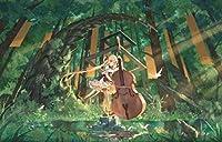 BDDZYMCZYX クロスステッチキット 14CT プレプリント刺繡工芸品スターターキッ初心者トコットン手刺繍室内装飾 40×50cmバイオリンを持つ少女