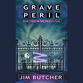 Grave Peril     The Dresden Files, Book 3              Written by:                                                                                                                                 Jim Butcher                               Narrated by:                                                                                                                                 James Marsters                      Length: 11 hrs and 55 mins     128 ratings     Overall 4.7