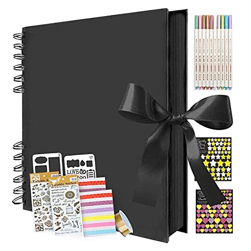 Álbum de Fotos DIY, Scrapbook, con Cinta Decorativa de Encaje, Pegatinas –...