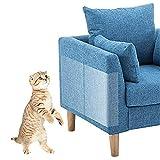 PTPTRATE 8 Stücke Kratzschutz for Katze Hund, Kratzschutz Couch Möbelschutz mit 60 Schrauben,Transparenter Kratzschutz für Polstermöbel