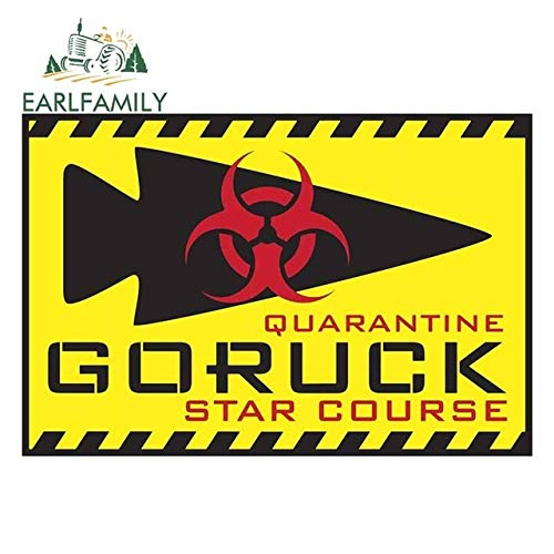 A/X 13cm x 8.8cm for Quarantine Goruck Waterproof Decal 3D Funny Car Stickers Personality Decor Suitable for JDM Window