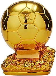 PTKU FúTbol Campeones Trofeos, Resina ArtesaníA,Botas De Oro Tirador BalóN De Oro Portero Trofeos, Aficionados Al FúTbol DecoracióN Recuerdo,B