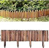 Cañizo Jardin Ocultacion Jardin Decoracion 1.2M Rollo de troncos Borde fijo Valla de piquete Borde de panel Jardín Patio Borde de césped al aire libre Borde de madera Valla para macizos de flores C