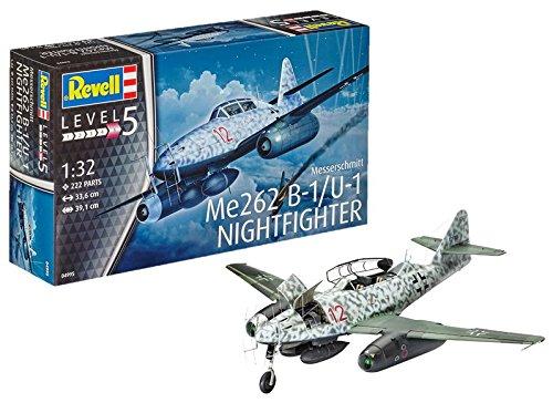 Revell Maqueta de avión 1: 32–Messerschmitt ME262B de 1/U de 1Night Fighter en Escala 1: 32, Niveles 5, réplica exacta con Muchos Detalles, 04995